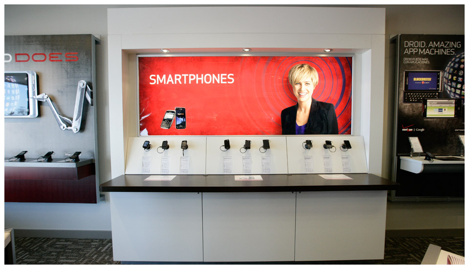 Verizon Wireless Store Fixtures 2