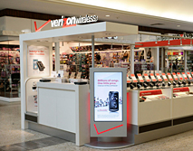Verizon Wireless Mall Kiosk